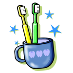 19歯ブラシコップ